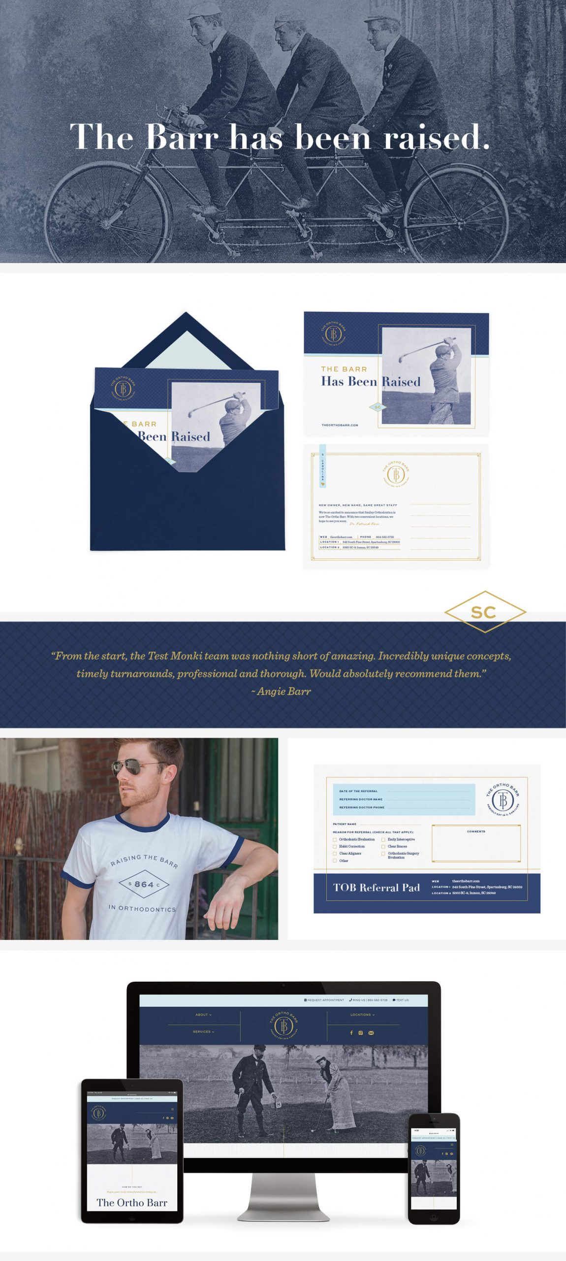 The Ortho Barr, an orthodontic practice located in South Carolina had their branding created by Test Monki.